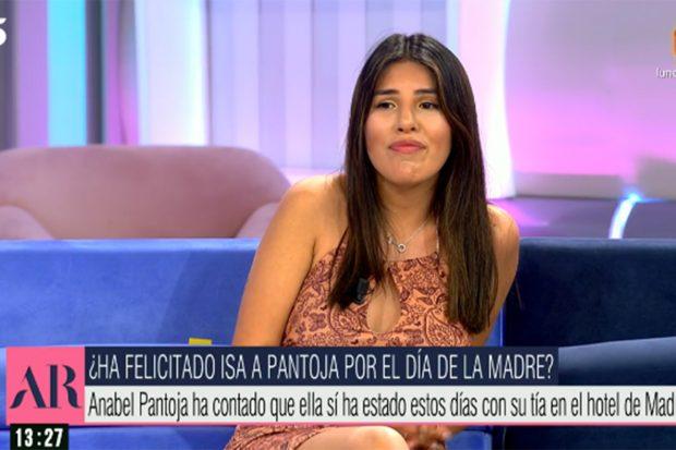 Isa Pantoja está molesta con la artista, tal y como ha confesado en 'El programa de Ana Rosa'./Telecinco