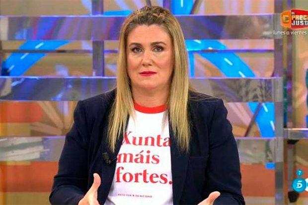 Carlota Corredera, con una camiseta a favor de la solidaridad entre mujeres / Telecinco