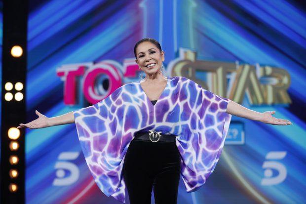 Isabel Pantoja ha debutado como mentora en 'Top Star: ¿cuanto vale tu voz?'./Gtres