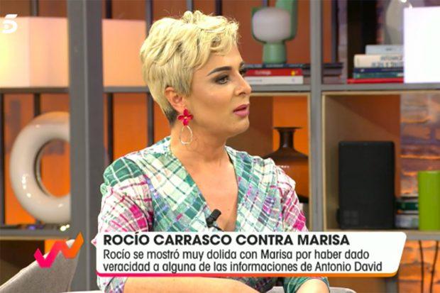 La mujer de José Ortega Cano ha estallado contra Rocío Carrasco./Telecinco