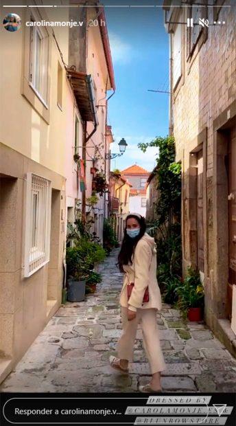 Carolina Monje se ha marchado hasta Oporto para empezar el camino de Santiago / Instagram