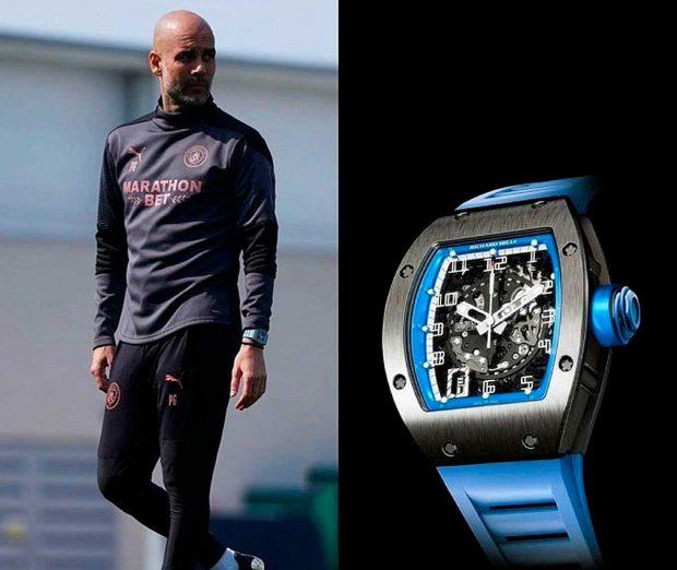 El reloj Richard Mille que Guardiola ha lucido en los últimos tiempos está valorado en 200.000 euros / Redes Sociales