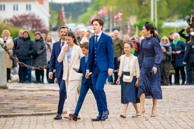 La Familia Real danesa en la confirmación de Christian de Dinamarca./Gtres
