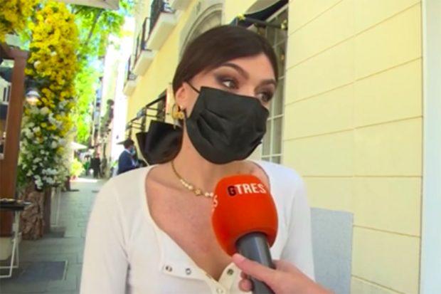 Madame de Rosa, habla con la agencia Gtres sobre el embarazo de Laura Matamoros./Gtres