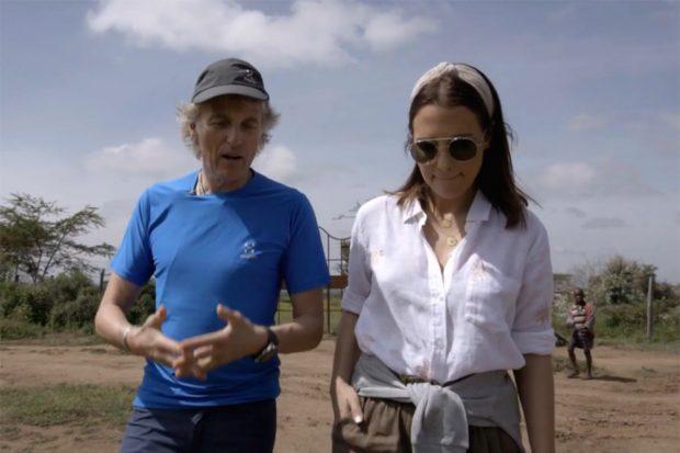 Paula Echevarría ha viajado a Kenia junto a Jesús Calleja para grabar el programa 'Planeta Calleja'./Cuatro
