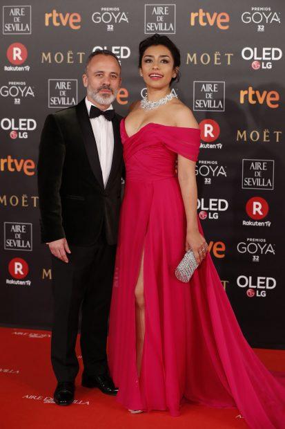 Adriana Paz y Javier Gutiérrez, en una alfombra roja de los Goya / Gtres
