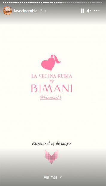 La Vecina Rubia estrena colección de ropa con Birmani, relacionada indirectamente con Belén Corsini / Instagram