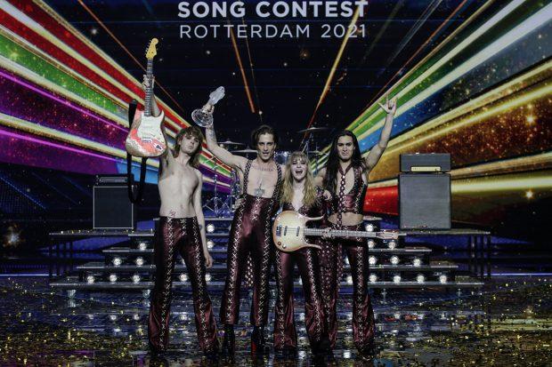 Italia se ha alzado con el micrófono de cristal en Eurovisión 2021./Gtres