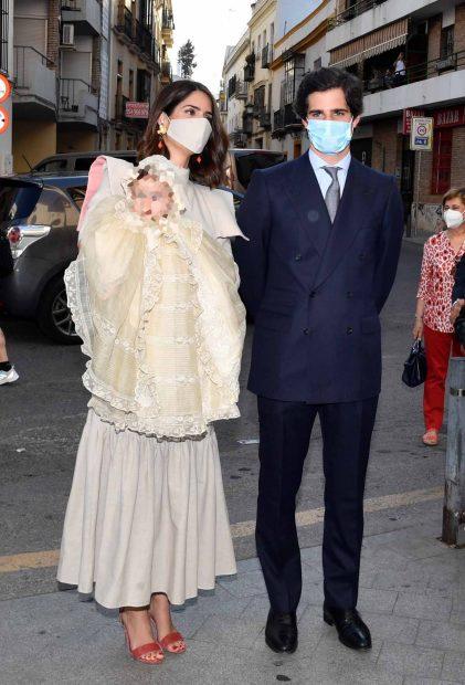 Sofía Palazuelo y Fernando Fitz-James Stuart junto a su hija Rosario./Gtres