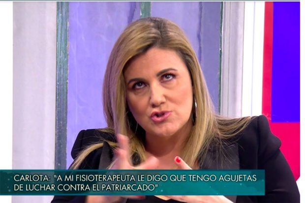 La periodista se ha sincerado sobre cómo ha vivido el documental de Rocío Carrasco./Telecinco