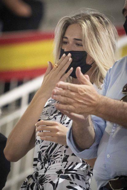 Ana Soria ha viajado hasta Madrid para ver torear a Enrique Ponce./Gtres