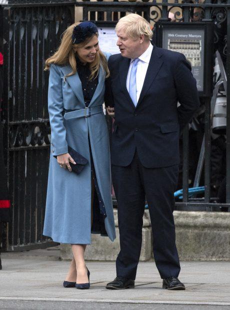 Boris Johnson y Carrie Symonds en una imagen de archivo./Gtres