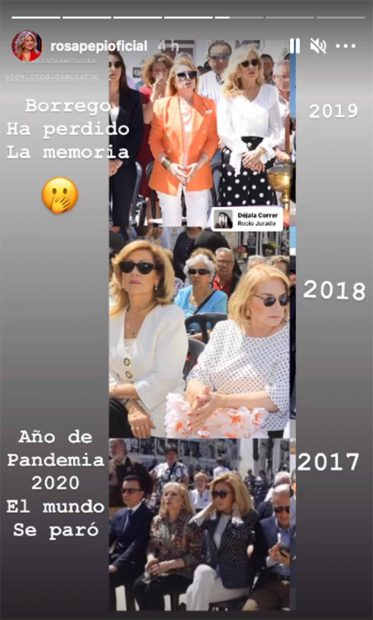 Rosa Benito saca a la luz fotografías que prueban su asistencia a diferentes homenajes a Rocío Jurado./Instagram @rosapepioficial