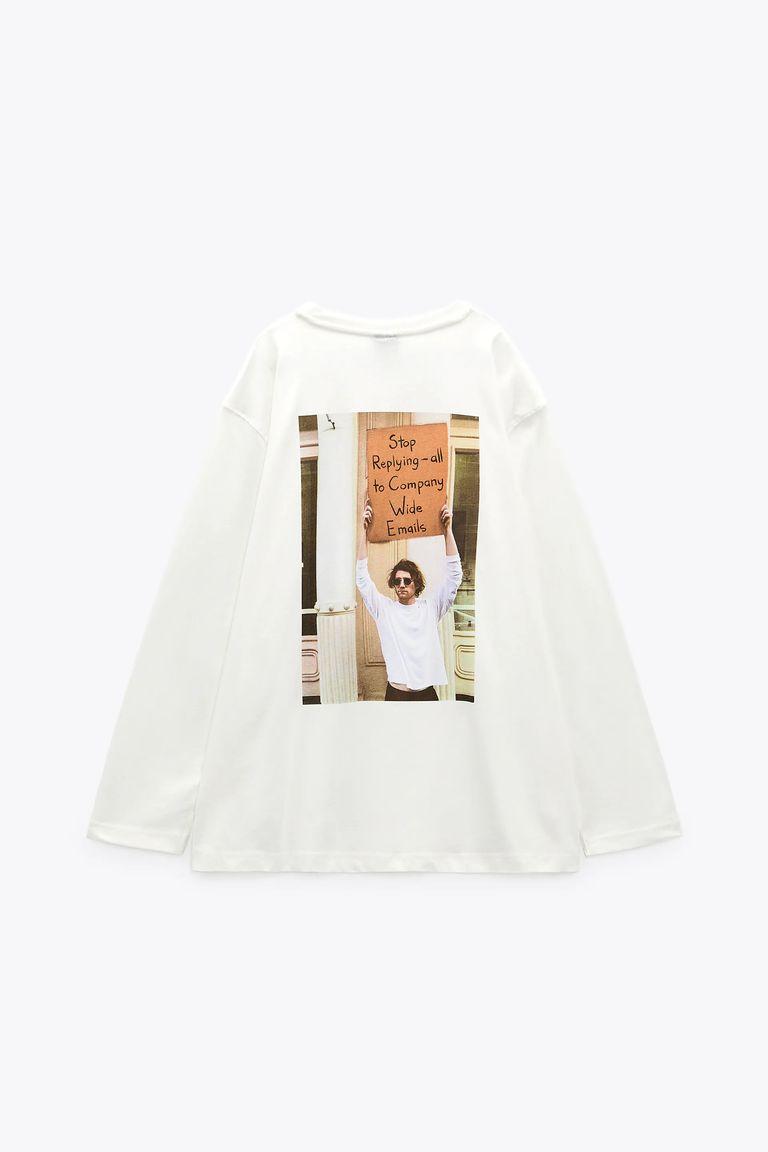 Zara: Las camisetas de teletrabajo con el famoso chico del cartel triunfan