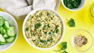 Esta es la receta de mutabal, el hummus saludable para perder peso rápidamente