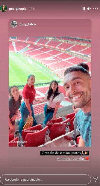 Georgina Rodríguez, en las gradas del Wanda Metropolitano / Instagram