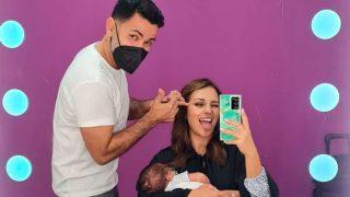 Paula Echevarría ha compaginado una jornada de trabajo con la maternidad / Instagram