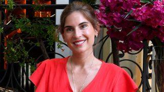 Lourdes Montes en la presentación en Sevilla del libro 'La Estilista'/Gtres