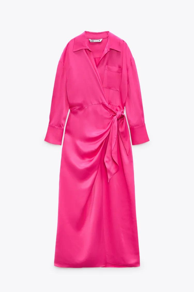 Zara tiene la versión low cost del famoso vestido rosa de Letizia