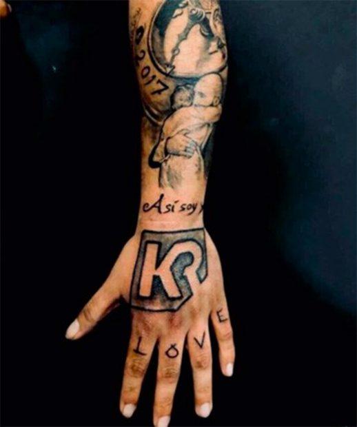 Brazo tatuado de Kiko Rivera./Instagram @riverakiko