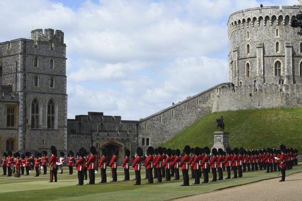 Imagen del desfile 'Trooping the colour' celebrado este 12 de junio de 2021./Gtres