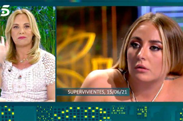 Belén Rodríguez ha mandado un contundente mensaje a la hija de Rocío Carrasco./Telecinco