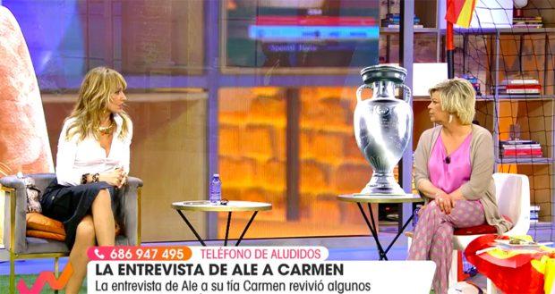 Terelu Campos y Emma García en 'Viva la Vida'./Telecinco