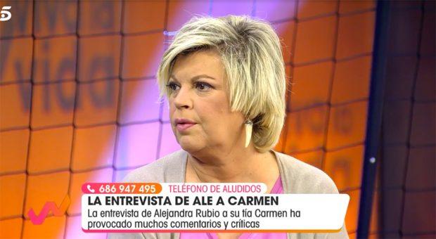 Terelu Campos mantiene una excelente relación con Rocío Carrasco./Telecinco