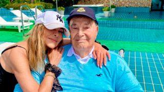 Ana Obregón junto a su padre en una imagen de su Instagram / Instagram