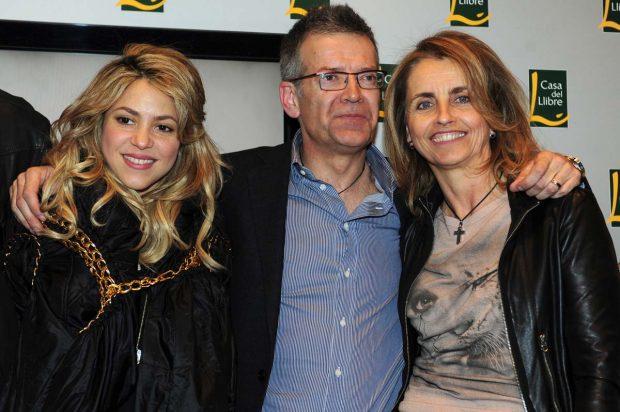 Shakira y sus suegros Joan Piqué y Montserrat Bernabéu