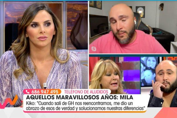 Irene Rosales ha agradecido el gesto de su marido, y por el momento no abandonará la televisión./Telecinco