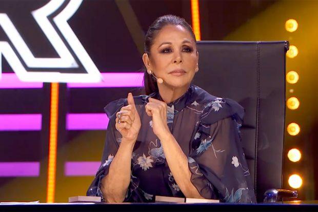 Isabel Pantoja forma parte del jurado de 'Top Star: ¿cuánto vale tu voz?'./Telecinco