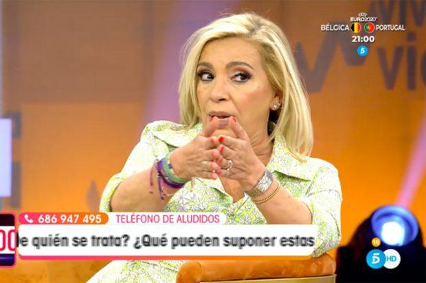 Carmen Borrego ha comentado qué le pareció la presencia de Antonio David Flores en el velatorio de Mila Ximénez./Telecinco