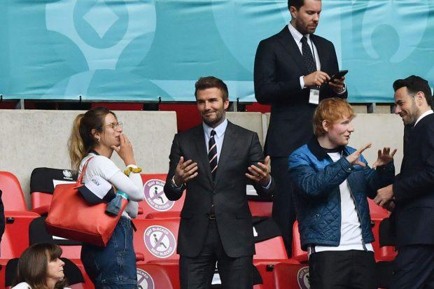 David Beckham y Ed Sheeran