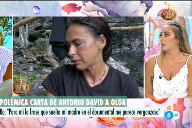 Olga Moreno ha recibido la visita de su hermana Rosa en 'Supervivientes 2021'./Telecinco