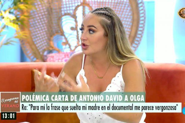 Rocío Flores en 'El programa de Ana Rosa'./Telecinco