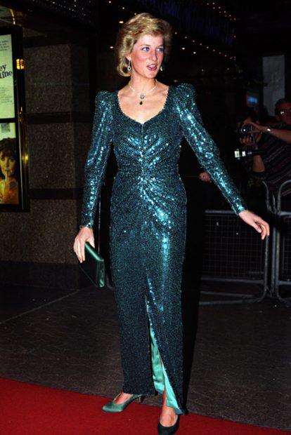 Lady Di ya lució numerosos looks teniendo como protagonistas a las lentejuelas./Gtres