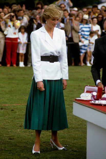 La madre del príncipe Guillermo ya lució las eternas faldas plisadas./Gtres