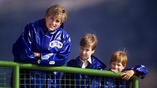 Princesa Diana y los príncipes Guillermo y Harry./Gtres