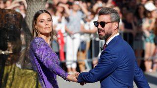 René Ramos y Lorena Gómez, en la boda de Sergio Ramos / Gtres