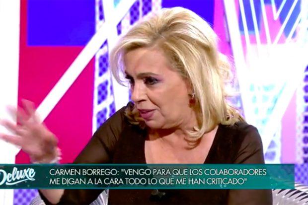 Carmen Borrego se ha convertido en la última protagonista de 'Viernes Deluxe'./Telecinco