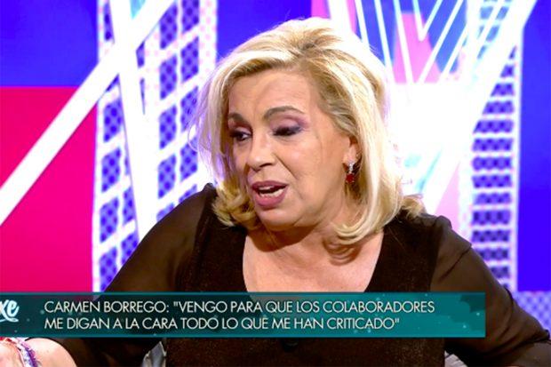 Carmen ha hablado de sus finanzas en el formato presentado por Jorge Javier Vázquez./Telecinco