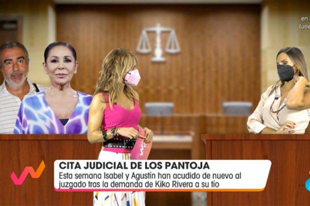 """Irene Rosales ha confesado que Kiko Rivera se puso nervioso el día del juicio de su madre. """"No lo está pasando nada bien con todo esto"""", ha dicho la colaboradora./Telecinco"""