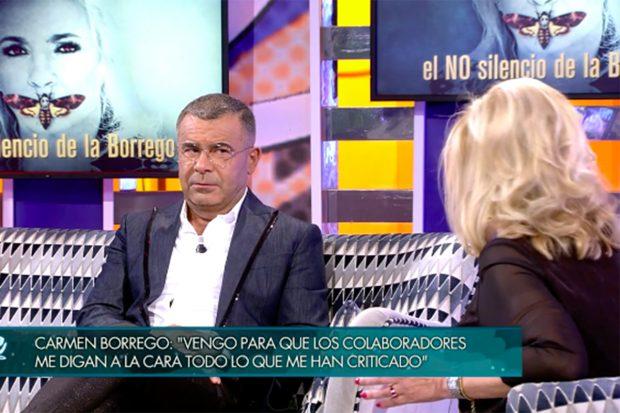 Carmen Borrego y Jorge Javier Vázquez en 'Viernes Deluxe'./Telecinco