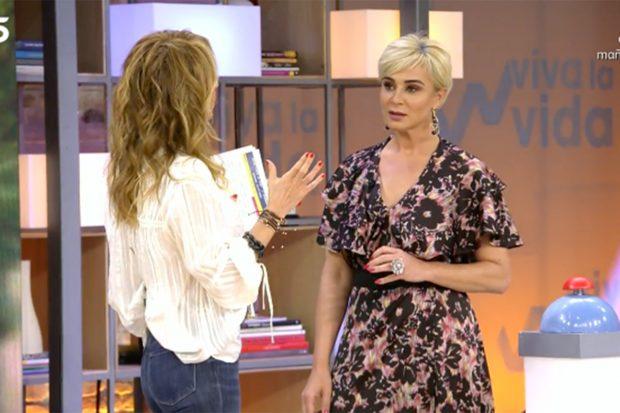 Ana María Aldón y Emma García en 'Viva la Vida'./Telecinco