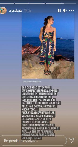La entrenadora de Vicky Martín Berrocal presume de su cambio físico / Gtres