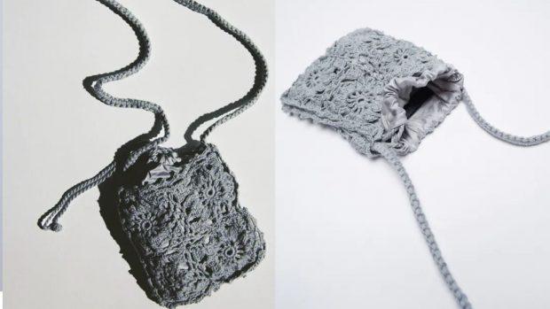 Bandolera mini crochet de Zara