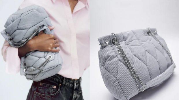 Bolso de hombro acolchado de Zara
