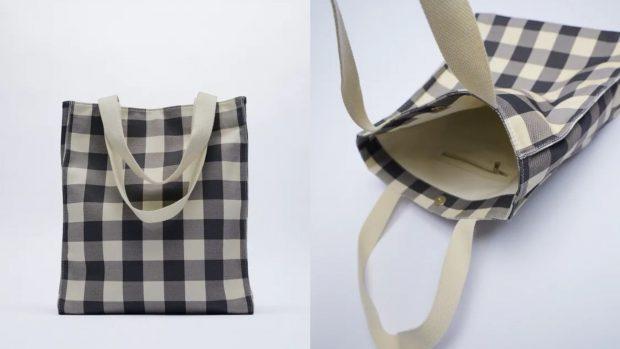 bolsos shopper vichy de Zara