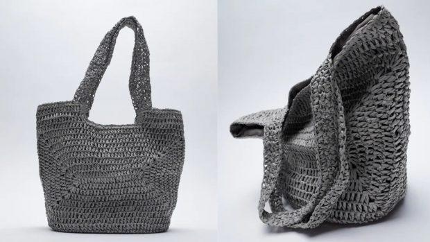 bolsos shopper trenzado Zara
